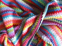 Granny stripe blanket: directions from Attic 24