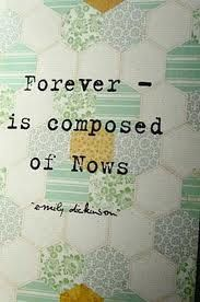 emily dickinson quote - forever is composed of nows