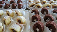 ROTOLINI DOLCI DA BUFFET Ricetta Facile di Benedetta per fare tanti Mignon in meno di Mezz'ora - Rotoli Mignon al cacao ripieni di ricotta e gocce cioccolato...