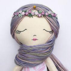 Rag Doll Fabric Dolls Heirloom Doll Cloth by littlewildwooddolls