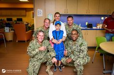 A group of Navy Seals recently stopped by the Jimmy Fund Clinic to visit with patients.