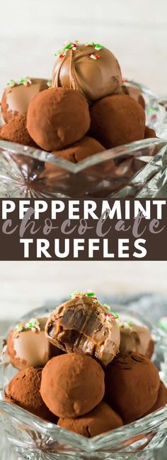 Peppermint Chocolate Truffles - Deliciously indulgent peppermint-infused chocolate truffles that are easy to make and are perfect for giving at Christmas time! Peppermint Chocolate, Homemade Chocolate, Chocolate Recipes, Chocolate Lovers, Diy Truffles, Chocolate Truffles, Sweet Recipes, Snack Recipes, Dessert Recipes