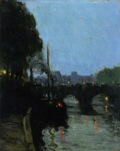 Henry Ossawa Tanner~The Seine Evening