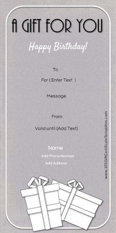 Pin By Claire Morris On Printable Gift Certificate