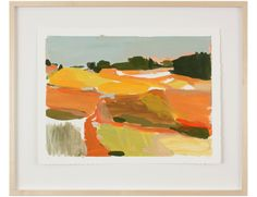 """""""Land II""""  by Karen Smidth, $525, 26.5"""" x 21.5"""", available at #serenaandlily. #artcollection"""