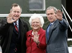 Former First Lady Barbara Bush, with husband President George HW Bush and son, President George W. Bush, is also the mother of potential 2016 presidential candidate and former Florida Gov. Jeb Bush