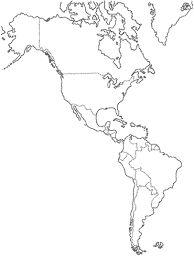 Risultati immagini per continente americano cartina muta da stampare