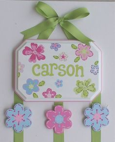 Cute craft I want to make.  This will have Addison's name on it one day!
