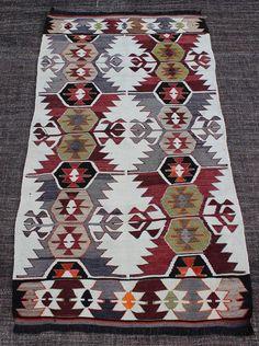 Traditional Handmade Anatolian Wool Kilim Rug