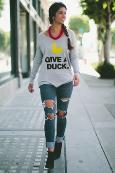 GIVE A DUCK! Grab a #Sevenly limited edition shirt and support little heroes battling cancer! Each item sold sends Chemo Ducks their way, making treatment and hospital stays easier & that's worth A LOT!
