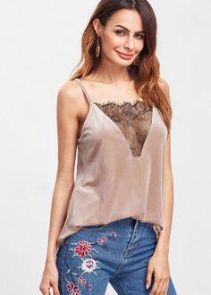 Blusa Veludo Decote com Renda - Rosa
