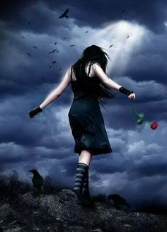 Explore the Dark and Emotional collection - the favourite images chosen by Sapient-Butterfly on DeviantArt. Dark Gothic Art, Gothic Fantasy Art, Gothic Angel, Gothic Fairy, Beautiful Dark Art, Beautiful Photos Of Nature, Dark Beauty, Beauty Art, Beautiful Landscape Wallpaper
