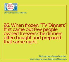 How often do you eat TV dinners? Only a few days left in #MarchFrozenFoodMonth!