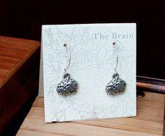 Brain Earrings by Anatomology on Etsy, $18.00