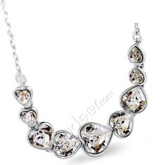 Butterfly Love Crystal Beaded Wine Fashion Necklace