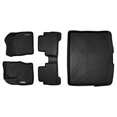 MAXFLOORMAT Floor Mats and MAXTRAY Cargo Liner for Ford Escape (2013-2017) Complete Set (Black). For product info go to:  https://www.caraccessoriesonlinemarket.com/maxfloormat-floor-mats-and-maxtray-cargo-liner-for-ford-escape-2013-2017-complete-set-black/