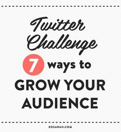 7 short, simple Twitter tips to help grow your audience TODAY! #blogging #socialmedia #marketing