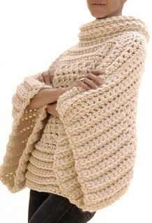 crochet cowl neck poncho sweater pattern | Crochet Ponchos