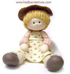 girl  porcelana fria polymer clay