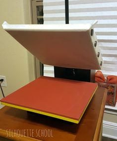 Teflon sheet attached to Heat Press by My Paper Craze for Silhouette School