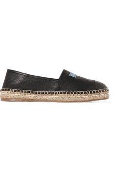 PRADA | Textured-leather espadrilles #Shoes #Flat_Shoes #Moccasins #PRADA
