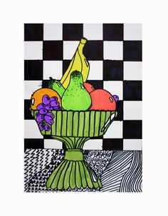 ROY LICHTENSTEIN INSPIRED FRUIT BOWL by heidabjorg, via Flickr