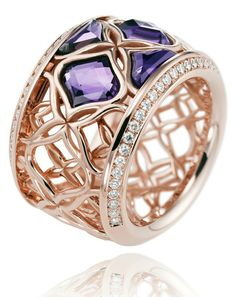 63612968bb Chopard Imperiale amethyst and diamond ring. With intricate filigree work  resembling woven lace, inspired by the ancient art of embroidery, this  Chopard ...