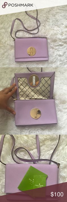 🔥SALE Brand new Kate spade crossbody Brand new with tags Kate spade crossbody bag ! Light purple and super cute ! No trades !!!! Make me an offer. Normally listed for $100 temporarily on sale for $75 kate spade Bags Crossbody Bags