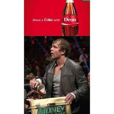 WWE Dean Ambrose ruining Seth Rollins' Money in the Bank Briefcase Wwe Dean Ambrose, Roman Reigns Dean Ambrose, Heath Slater, Wrestling Memes, Jonathan Lee, Wwe Funny, Catch, The Shield Wwe, Share A Coke