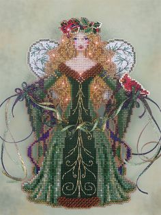 Brooke's Books Spirit of Evergreen Angel Ornament Cross Stitch Chart Only