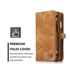 Multi-slot Retro Split Leather Wallet Zipper Case For iPhone 6 6S Apple 4.7 Sale…