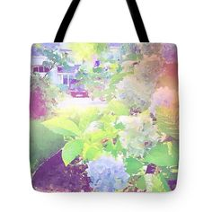 Summer in My Garden Tote Bag for Sale by Anna Porter Floral Tote Bags, Thing 1, Poplin Fabric, Bag Sale, Totes, Floral Design, Anna, Women's Fashion, Stitch