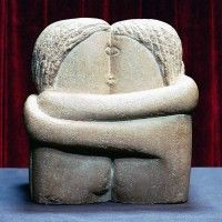 Constantin Brancusi, The Kiss, 1907-08