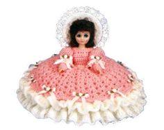 """15"""" Crochet Pillow Bed Doll"""