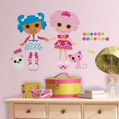 New GIANT LALALOOPSY WALL DECALS Girls Pink Bedroom Stickers Toy Room Decor | eBay