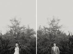 Photographing the bride and groom seperate in the same location creates a fun sense of wonder and tension. When will they get to see each other?! // Clayton Austin
