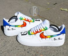 Nike Air Force 1 Nike Air Force 1 Rainbow Custom – – The clothing culture is quite … Custom Vans Shoes, Custom Painted Shoes, Custom Sneakers, Tenis Nike Casual, Rainbow Nikes, Souliers Nike, Moda Nike, Sneakers Fashion, Sneakers Nike
