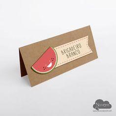 Plaquinha para identificação de sabores de comidas e bebidas ou reserva de mesa - tema piquenique , picnic, melancia, frutas