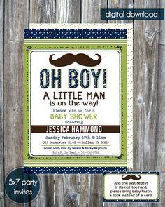 Mustache Little Man Baby Shower Invitation by madewithlovebyalesha, $20.00
