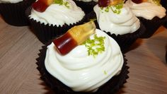 Cuba Libré cupcakes - Coca Cola cakes with Bacardí white rum and lime frosting