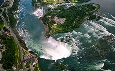 A Weekend Getaway to Niagara Falls - Helicopter view
