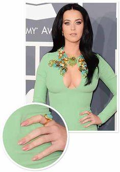 Katy Perry Nail Art At Grammy's 2013