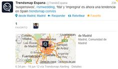 TT de #SMWedding de TrendsMap Trending Topic, Map, Thanks, Location Map, Maps