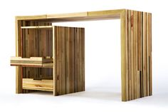 Beautiful + sustainable desk by Scrapile