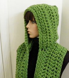 You have to see Pixie Chunky Hooded Scarf on Craftsy! - Looking for crocheting project inspiration? Check out Pixie Chunky Hooded Scarf by member McGettDM. Hooded Scarf Pattern, Crochet Hooded Scarf, Crochet Hoodie, Crochet Scarves, Crochet Shawl, Crochet Clothes, Free Crochet, Knit Crochet, Ravelry Crochet
