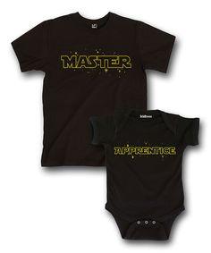 Another great find on #zulily! Black 'Master' & 'Apprentice' Tee & Bodysuit - Infant & Men by It's Just Me #zulilyfinds