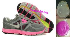 low priced 35281 dfa41 Womens Nike LunarGlide 3 Tumbled GreyMidnight FogLaser PinkGranite Shoes  Free