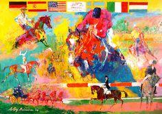 LeRoy Neiman..World Equestrian Games
