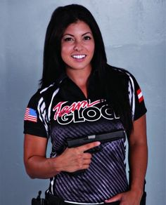 GLOCK Selects Michelle Viscusi to Compete with Team GLOCK for 2013 Practical Shooting Season  GLOCK Selects Michelle Viscusi to Compete with Team GLOCK for 2013 Practical Shooting Season Outdoor Girls, Beautiful Athletes, Military Women, Dangerous Woman, Badass Women, Thing 1, Beauty Women, Shooting Gear, Firearms