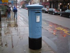 Blue Post Box, Liverpool Road, Manchester.